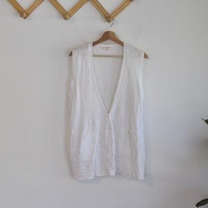 Eileen Fisher | white sweater vest